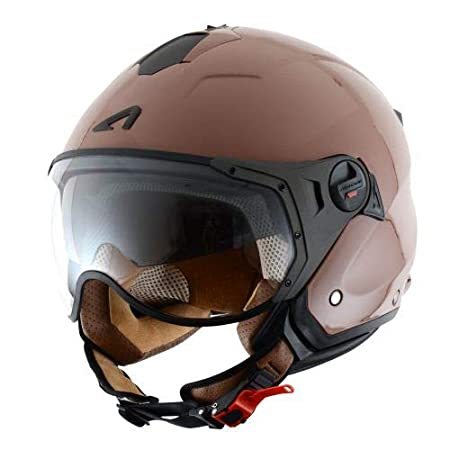 Orange Mat L Astone Helmets Casque Jet Mini Sport