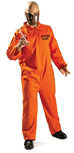 Mental Asylum Halloween Costumes (Rubie's Psycho Ward Inmate, Orange, X-Large)
