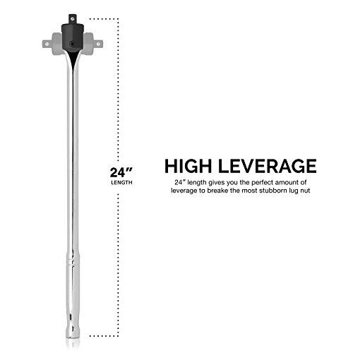 Neiko 00206A 1/2 Inch Drive Premium Breaker Bar, 24'' Length | Cr-V Steel by Neiko (Image #4)