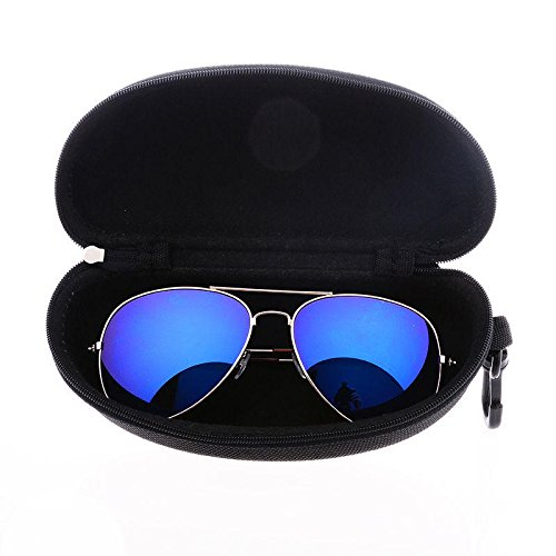 Zipper Eyeglassees Sun Glassess Hard Case Box Black - Motorcycle Motorcycle Goggles -1 X Sunglasses Case