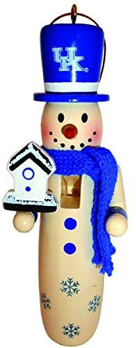 Kentucky Snowman Wildcats (6 NCAA University of Kentucky Wildcats Wooden Snowman Christmas Ornaments 6