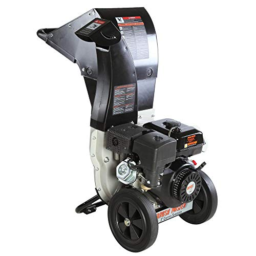 BRUSH MASTER CH8M19 3 in. 11 HP Gas Powered Commercial-Duty Chipper Shredder, Black and Grey (Brush Master 11 Hp Commercial Duty Chipper Shredder)