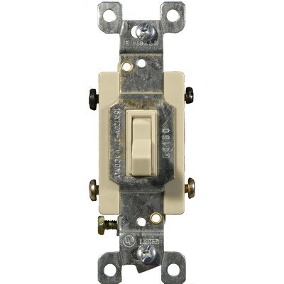 Morris 82040 Toggle Switch, 4 Way, 4 Poles, 120V/277V, 15 Amp Current, Ivory - Toggle Switch Max 15 Amps