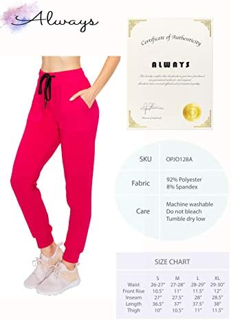 ALWAYS Women's Fleece Lined Leggings - High Waist Winter Warm Premium Soft Yoga Workout Stretch Solid Pants