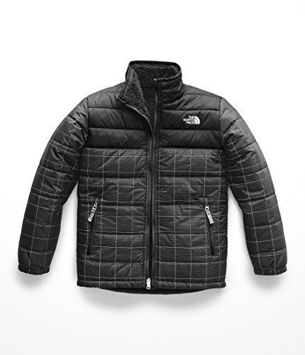 (The North Face Boy's Reversible Mount Chimborazo Jacket - TNF Black Reflective Grid - S)