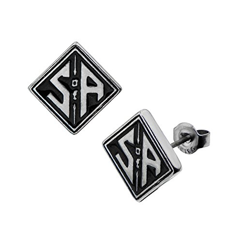 - Sons Of Anarchy SOA Logo Stud Earrings
