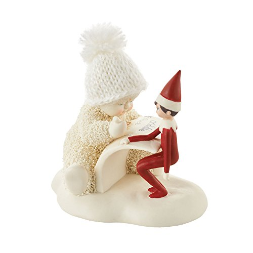 Department 56 Snowbabies Elf On The Shelf Makes A List Porcelain, 3.2 Figurine, Multicolor