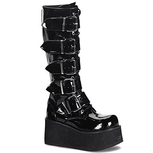 Demonia by Pleaser Men's Trashville-518 Goth Boot,Black Patent,10 M US