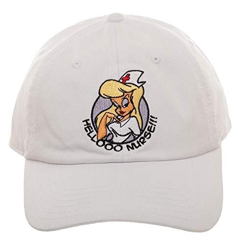 Animaniacs Hello Nurse White Embroidered Baseball Hat Dad Cap ()