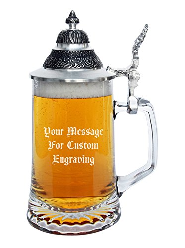 Personalizable Glass Beer Stein