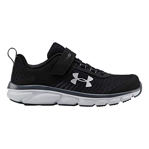 Under Armour Kid's Pre School Assert 8 Alternate Closure, Black (001)/Pitch Gray, 2.5