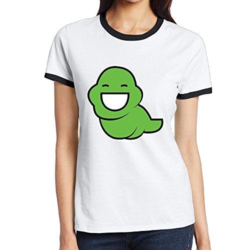 [Custom Women's Funny Two-toned Tee Shirt Comic Homestuck Logo Black Size L] (John Homestuck Costumes)