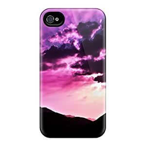 Premium [FDibSom5618CdRPN]early Purple Breeze Case For Iphone 4/4s- Eco-friendly Packaging