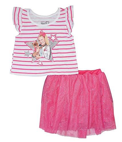 Nickelodeon Girls' Toddler JoJo Siwa 2 Piece Skirt Set, Pink, 3T