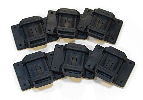 Safe-T-Proof STP-MP-201-50-00-BL Bulk 2'' x 3'' Fasteners (Pack of 50), Black by Safe-T-Proof
