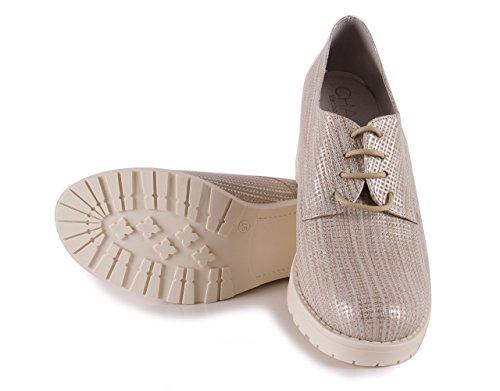 Chamby Zapato Cordones Layna Oro