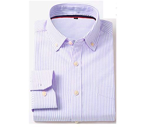 2019 Oxford Men Shirt Long Sleeved Fashion Solid Twill Casual Shirts,XNJF8,Asian 3XL Label 43