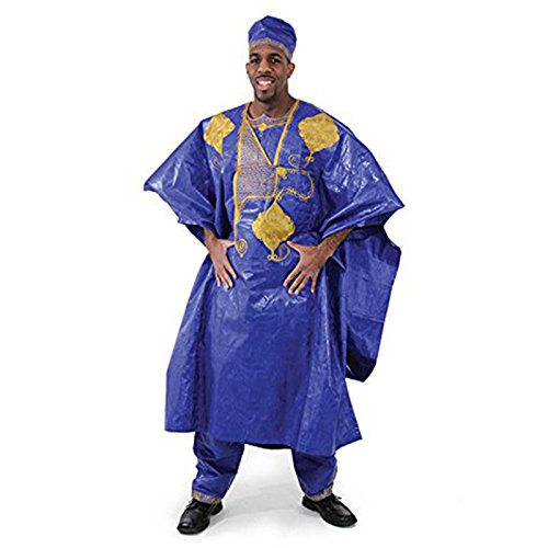 Embroidered Grand BouBou - Blue by utopia africa