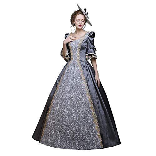 KEMAO Victoriaanse Rococo-jurk voor dames, inspiratie, maagdenkostuum, middeleeuwse jurken 18e eeuw renaissancejurk