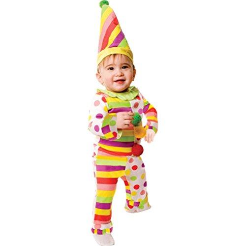 Sweet Dots N' Stripes Infant Clown Costume
