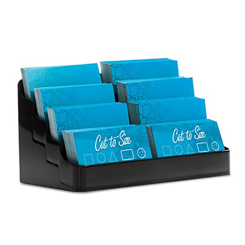 - Source One 8 Pocket Desktop Clear & Black Acrylic Business Card Holder (1 Pack, Black)