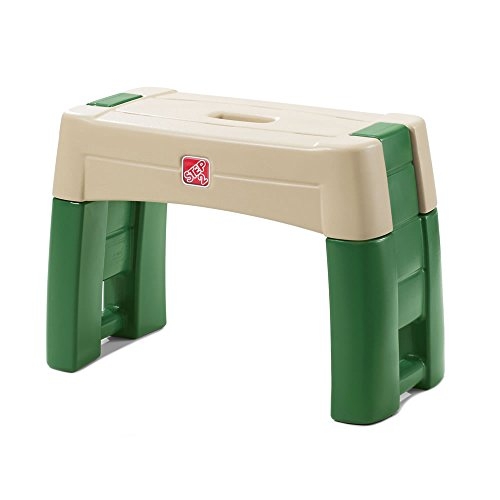 Step2 Garden Kneeler Seat - Durable Plastic Gardening Stool with Kneeling Cushion Pad, Multicolor (Stool Kneeler Garden)