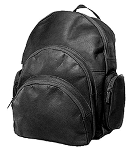 (David King & Co. Expandable Backpack, Black, One Size)
