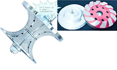 1 1/2'' 40 mm Diamond Full Bullnose Router Bit Profile Grinding Wheel 4'' Aluminum Based Grinding Cup Wheel natural stone concrete terrazzo quartz granite marble countertop edge shaping repair grinder