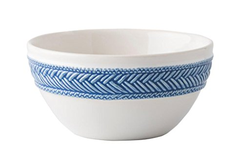 Juliska Le Panier White/Delft Blue Cereal/Ice Cream Bowl