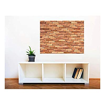 That's 100% USA Made, Dazzling Print, Removable Wall Sticker Wall Mural Seamless Brick Wall Creative Window View Wall Decor