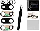 2X Back Rear Camera Glass Lens Cover Replacement + Tool + Guide with Tips + Adhesives Preinstalled+Tempered Glass+Clean Cloth for iPhone 7 Plus 8 Plus Model A1661, A1784, A1785, A1864, A1897, A1898