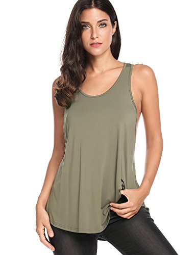 [Halife Womens Sexy Backless Stretchy Open Back Knotted Sports Tops Yoga Shirts (S,Army Green)] (Cute Army Outfits)