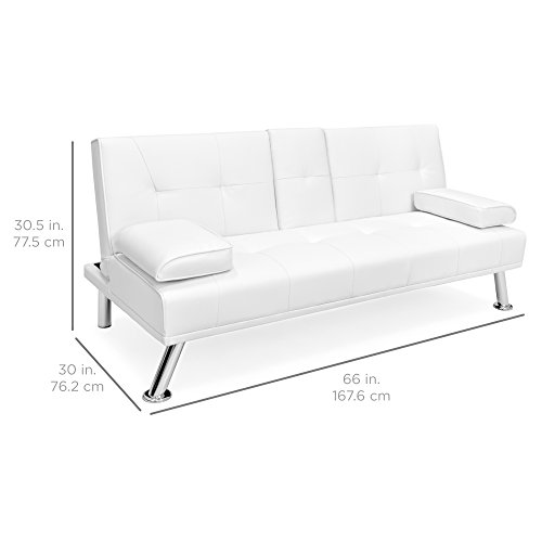 best choice products modern faux leather convertible futon sofa bed rh binge ae white futon sofa bed white futon sofa bed