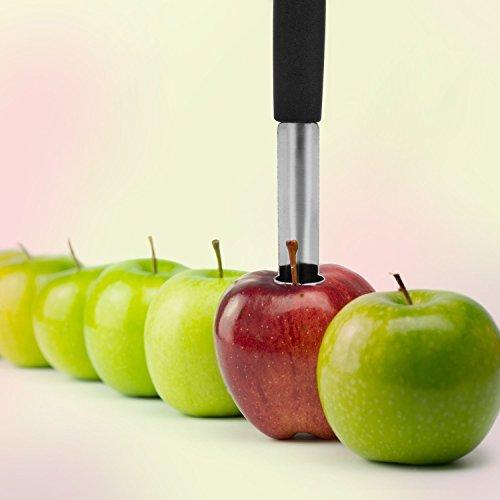UVISTAR Apfelentkerner Edelstahl 2er Set Apfelausstecher Küchenhelfer Ausslicer Entkerner für Obst und Gemüse