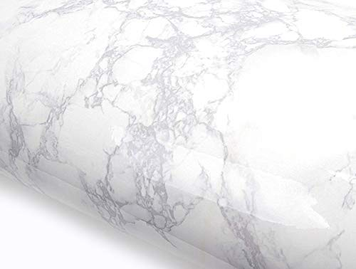 ROSEROSA Peel and Stick PVC Instant Marble Decorative Self-Adhesive Film Countertop Backsplash Napoleon Marble (S4705-1 : 2.00ft X 8.20ft)