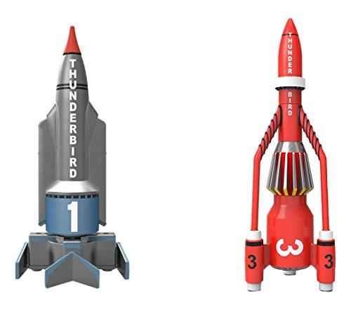 Hornby CC00901 Corgi Thunderbirds TB1 and TB3 Die Cast Model, Grey/Red
