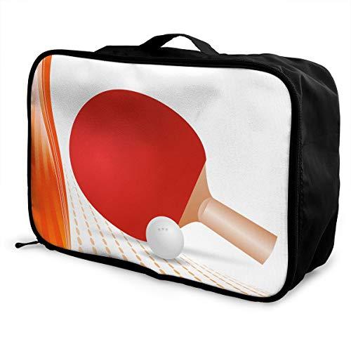 Travel Luggage Duffle Bag Lightweight Portable Handbag Table Tennis Large Capacity Waterproof Foldable Storage Tote