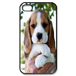 For Apple Iphone 5/5S Case Cover So Cute Beagle Puppy For Teen Girls , For Apple Iphone 5/5S Case Cover Cheap For Teen Girls [Black]