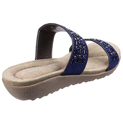 Strap Foster Fleet Womens Blue Parisio Multi Sandals Ladies amp; Summer xPqvgwq5Y