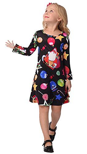Robe C Dessinée Bande Vêtement Longue Famille Soirée Outfit Arbre Père Maman Neige Imprimé À Noël Correspondant Pour Casual Fille Manche De Et rw1q4Or