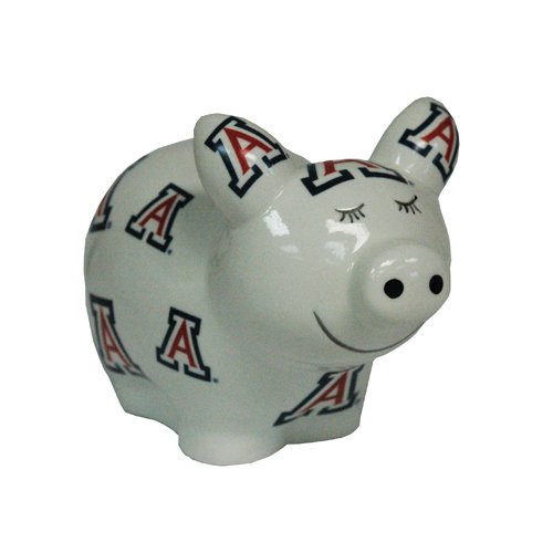 Game Day Outfitters NCAA Arizona Wildcats Logo All Over Piggy Bank, One Size, Multicolor