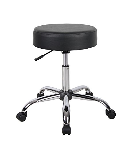 Boss Office Products B240-BK Be Well Medical Spa Stool in Black (Best Doctor On Earth)