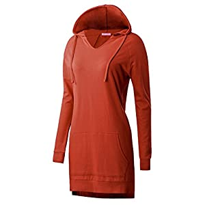 Regna X Women's Long Sleeve Casual Hoodie Dress(Plus Size Available)