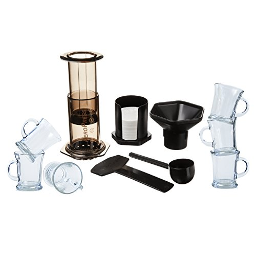 Aerobie AeroPress Coffee and Espresso Maker with 6 Glass Mugs by AeroPress