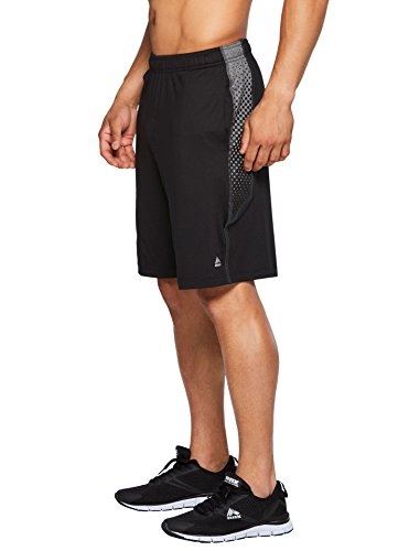 RBX Active Men's Casual Soft Moisture Wicking ShortsBlack/Charcoal S
