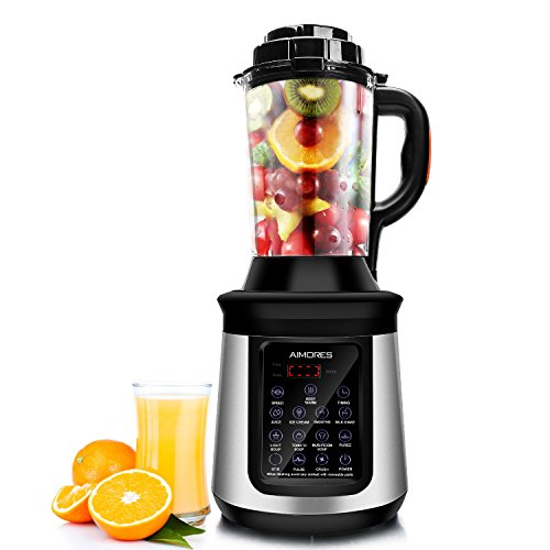 Aimores Commercial Blender with Heating Function – Soup Maker – 8 Pre-programmed – 62oz. Glass Pitcher with Spill-proof Design – LED Touch Screen Control – ETL/FDA Certified (Silver) Review