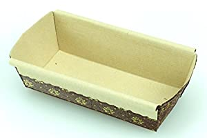 Premium Paper Baking Loaf Pan, Nonstick, Disposable, for Chocolate Cake, Banana Bread, Set of 6 - By Ecobake