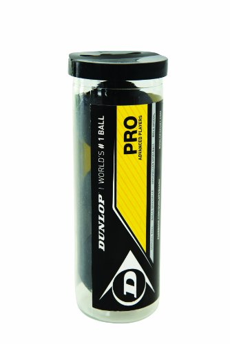 Dunlop Sports Pro XX Squash 3 Ball Tube