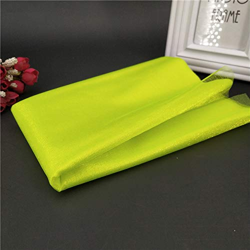 Miao Express 1Pcs 48CMX5M Tulle Roll Wedding Table Decoration Roll Fabric Spool Tutu Birthday Gift Wrap 5Z-SH015,Spring Green - G-force Table Cover