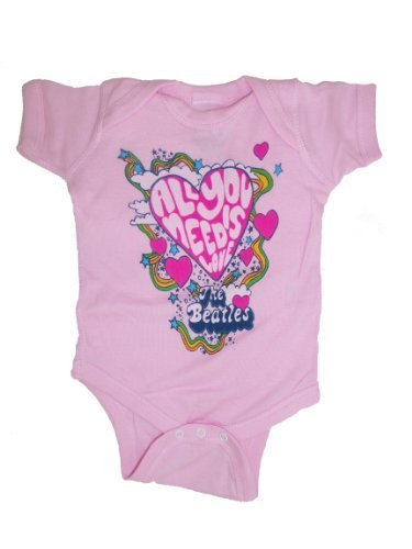 The Beatles - All You Need Is Love Baby One Piece - 6 month (Shirt Beatles Baby)